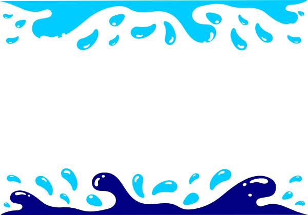 Pool party clip art. Water border png image library library