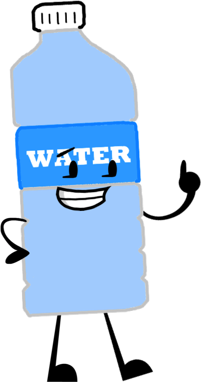 Water bottle cartoon png. Image pose object shows