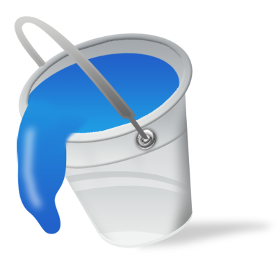 Water bucket png. Vista by iconshock blue