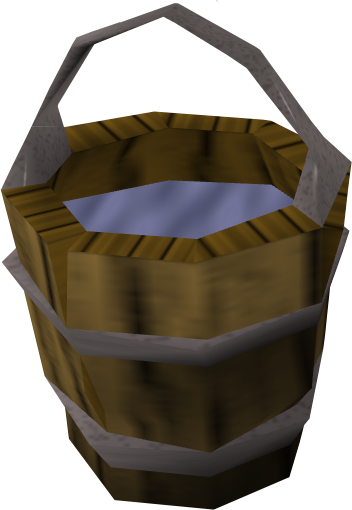 Water bucket png. Image of detail runescape