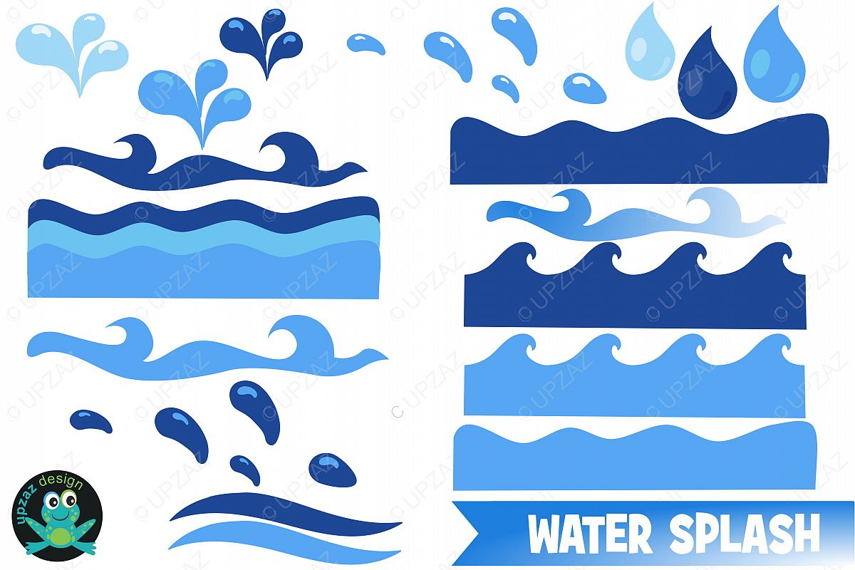 Water clipart wave. Waves by upzaz design