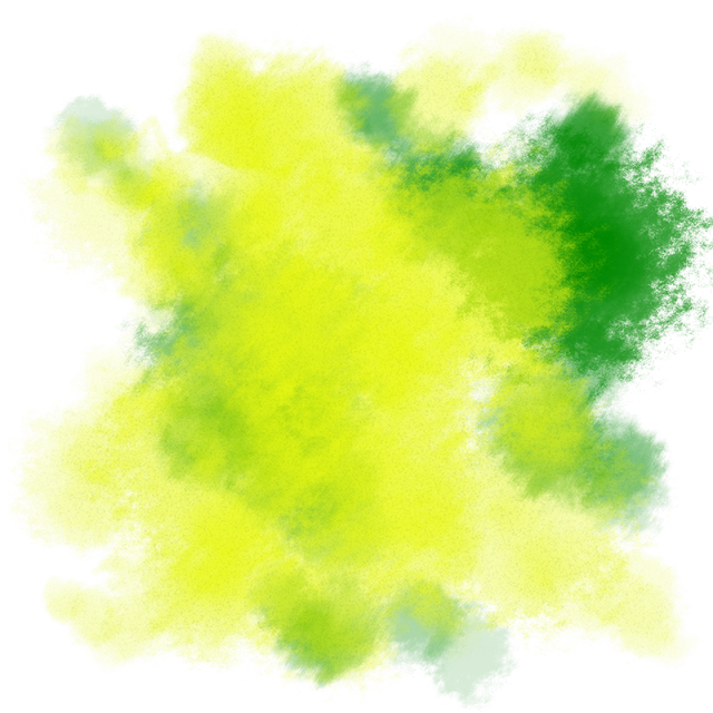 green water color png
