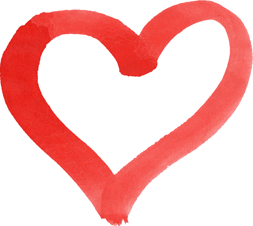 Watercolor heart png. Red transparent onlygfx