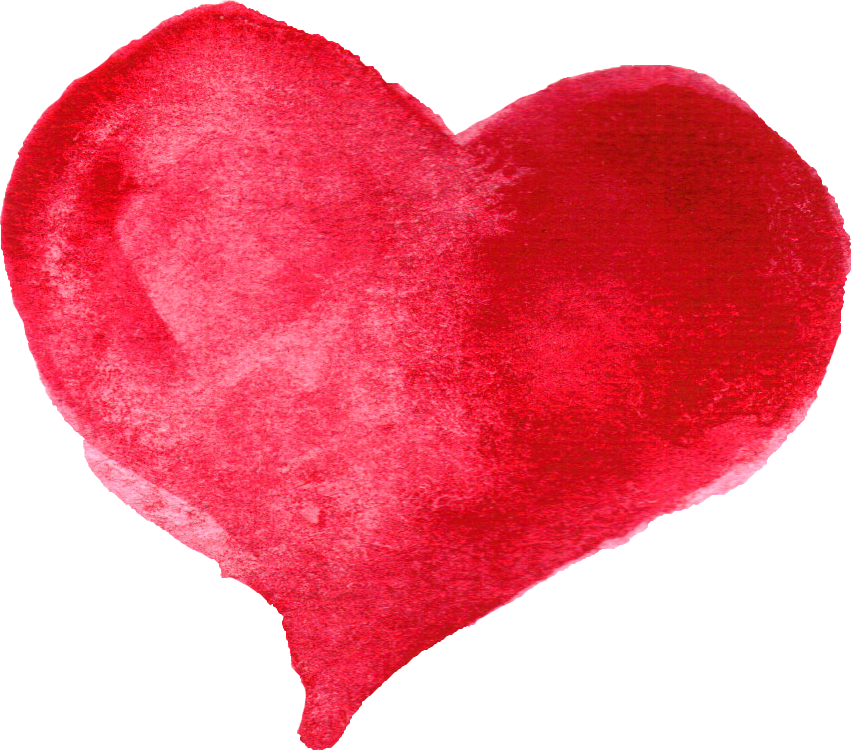 Heart watercolor png. Red transparent onlygfx