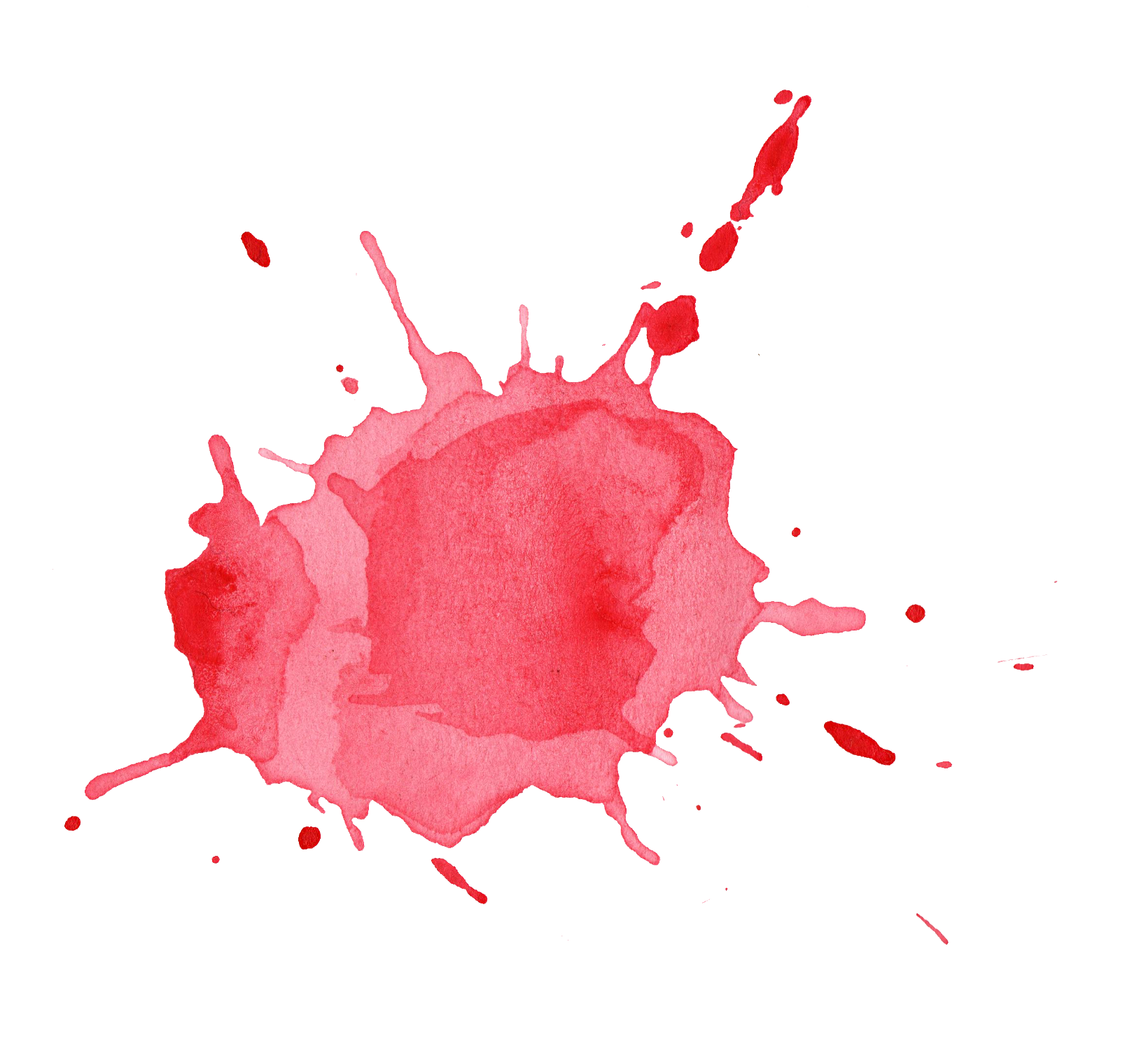 Water color png. Red watercolor splatter