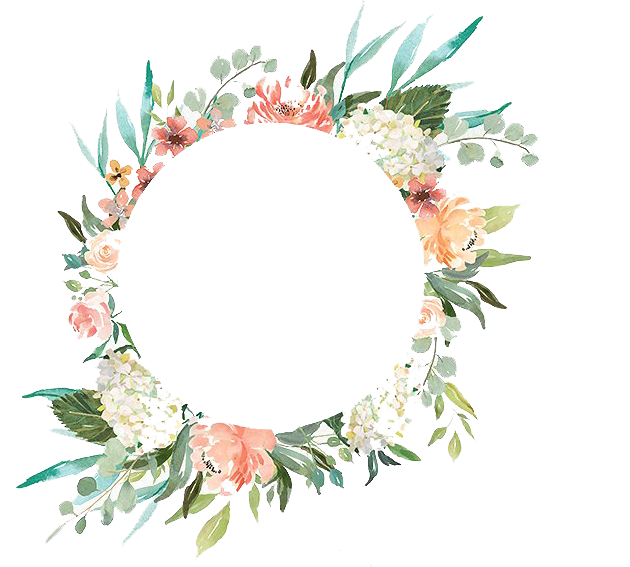 Water color wreath png. Watercolor with flowers peoplepng