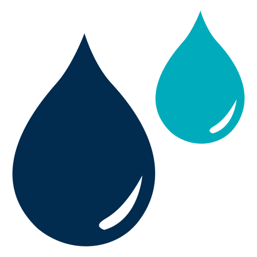 Drops vector. Blue water icon transparent