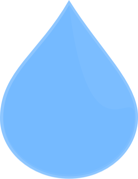 Water droplets png. Sky blue drop clip