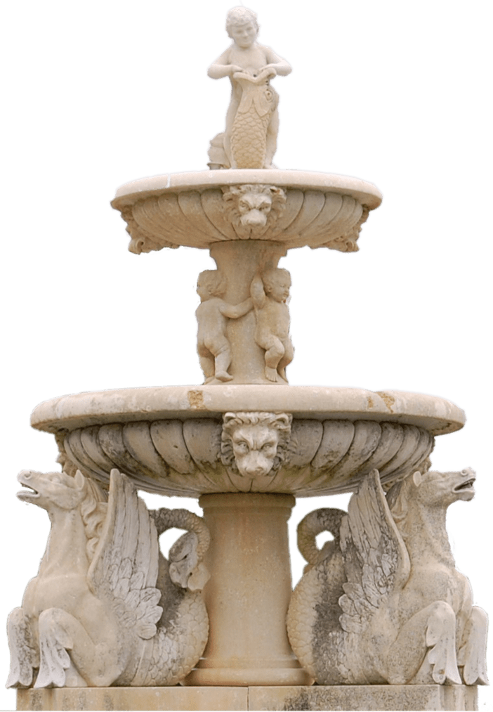 Water fountain png. Ornate transparent stickpng