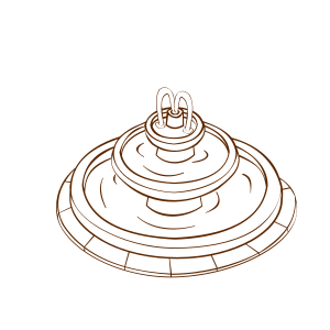 Drawing spirals vector. Water fountain free icons