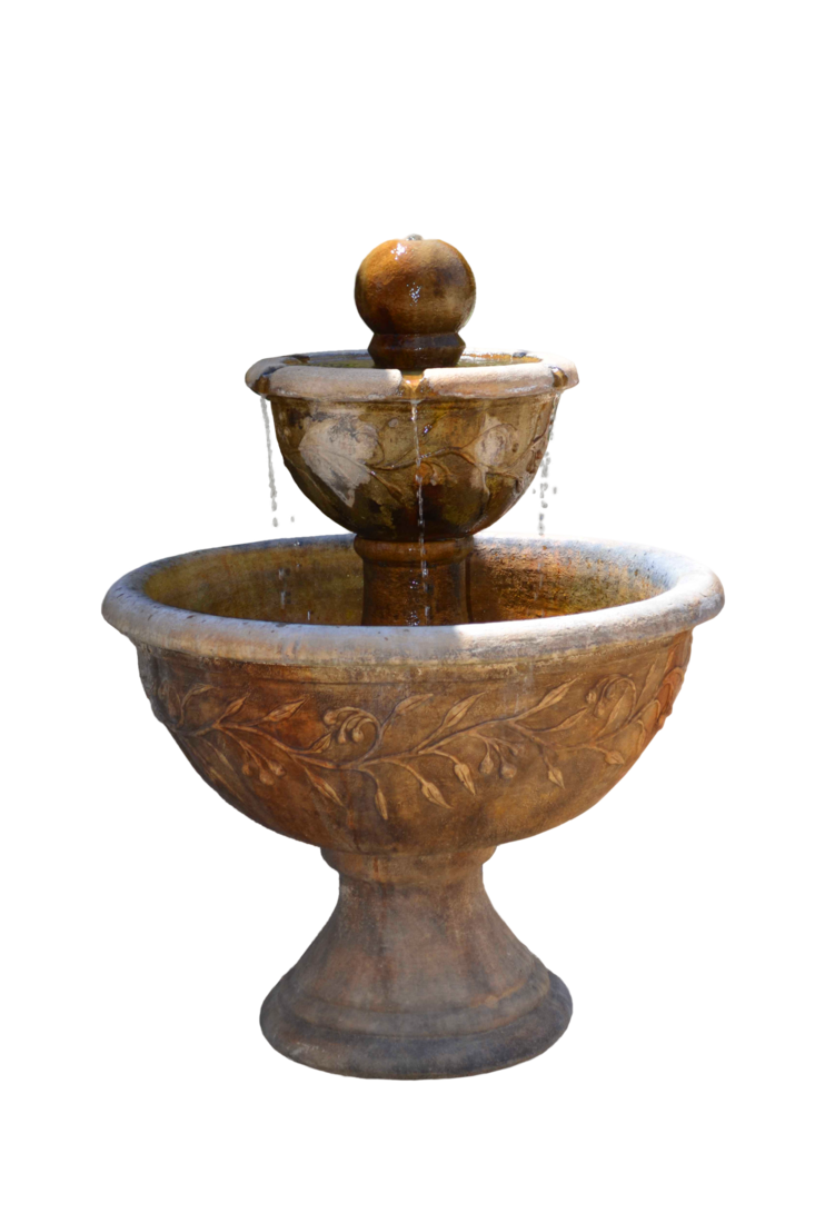 Water fountain png. Stock photo with droplets