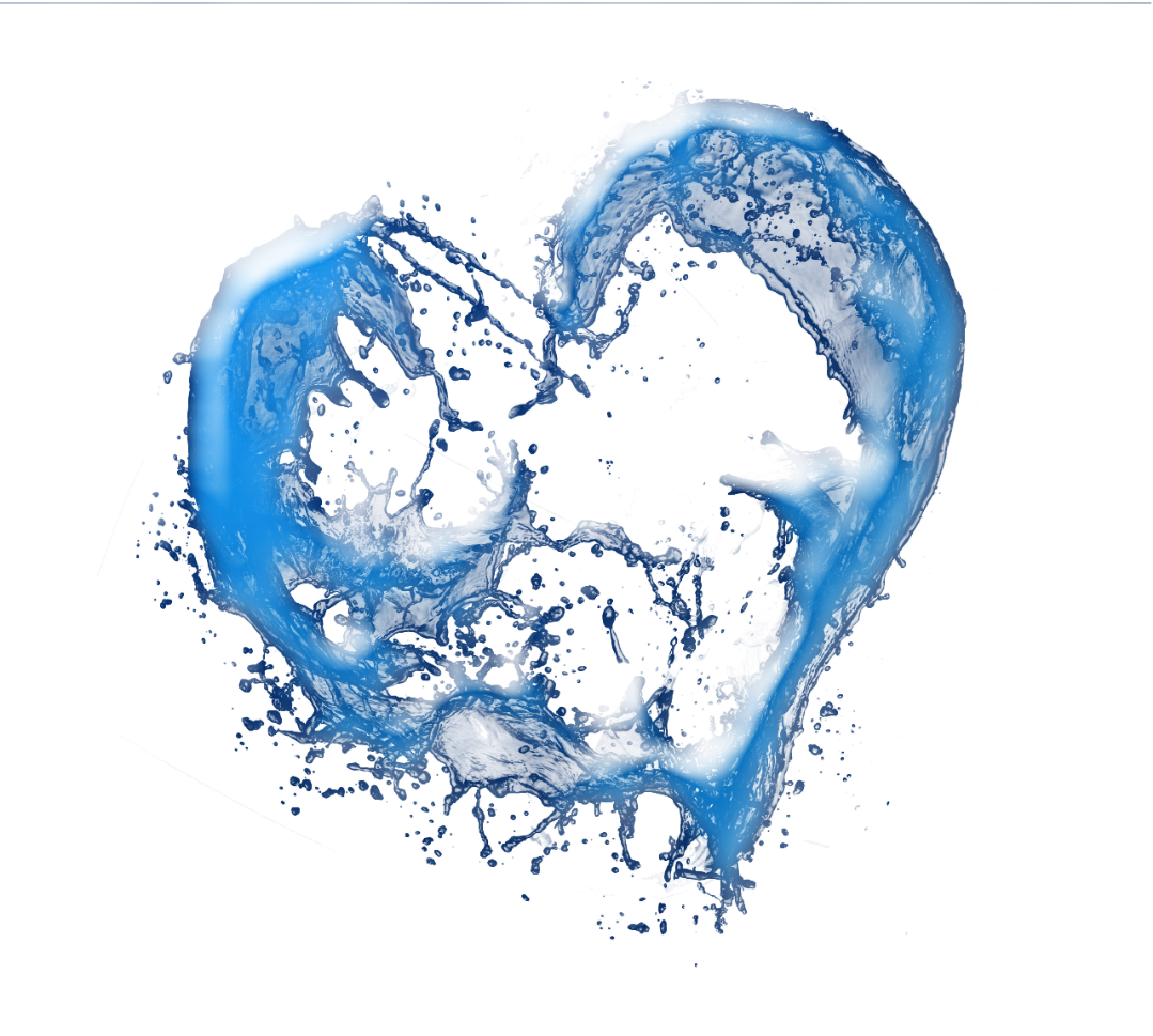 Water heart png. Splash love blue cute