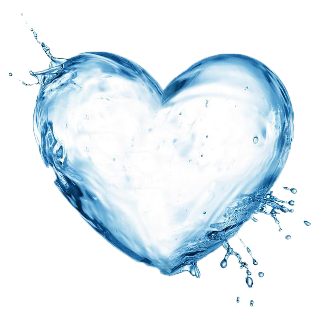 Water heart png. Filter ionizer health drinking