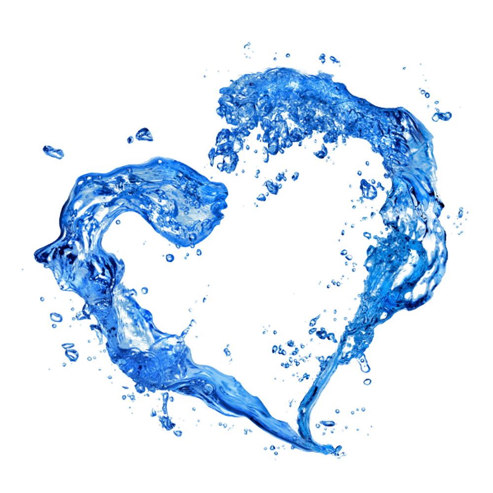 Water heart png. Transparent stickpng