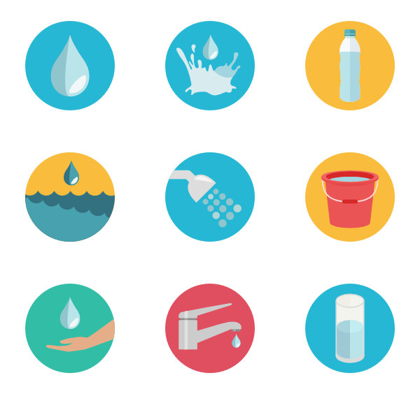 Water icon png. Packs vector svg