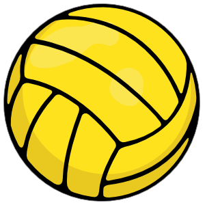 Water polo ball png. Printed full color sticker