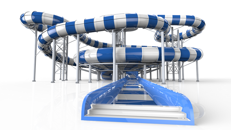 Water slide png. Theme park review polin