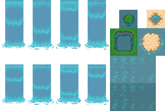 Water sprite png. Lpc animated and waterfalls