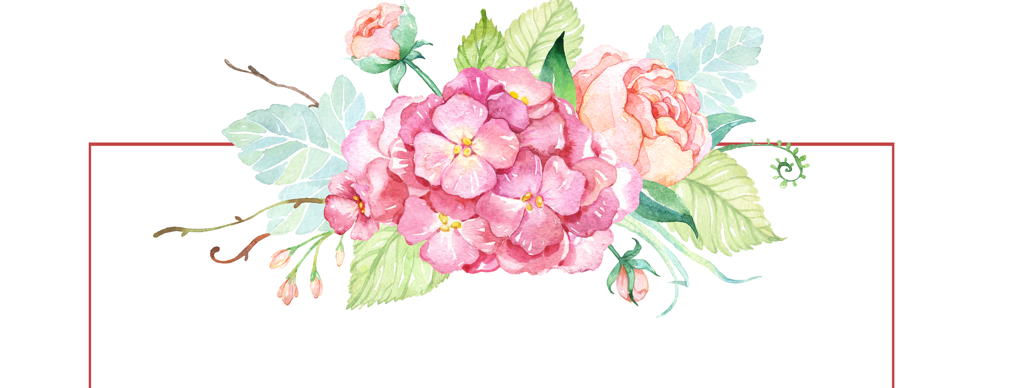 Watercolor banner png. Free with flowers peoplepng