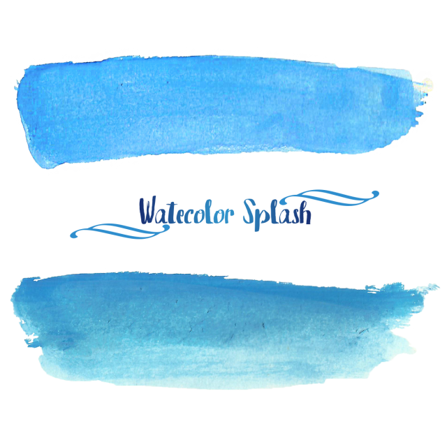 Watercolor blue png. Splash and psd file
