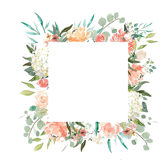 Watercolor border png. Free romantic floral frame