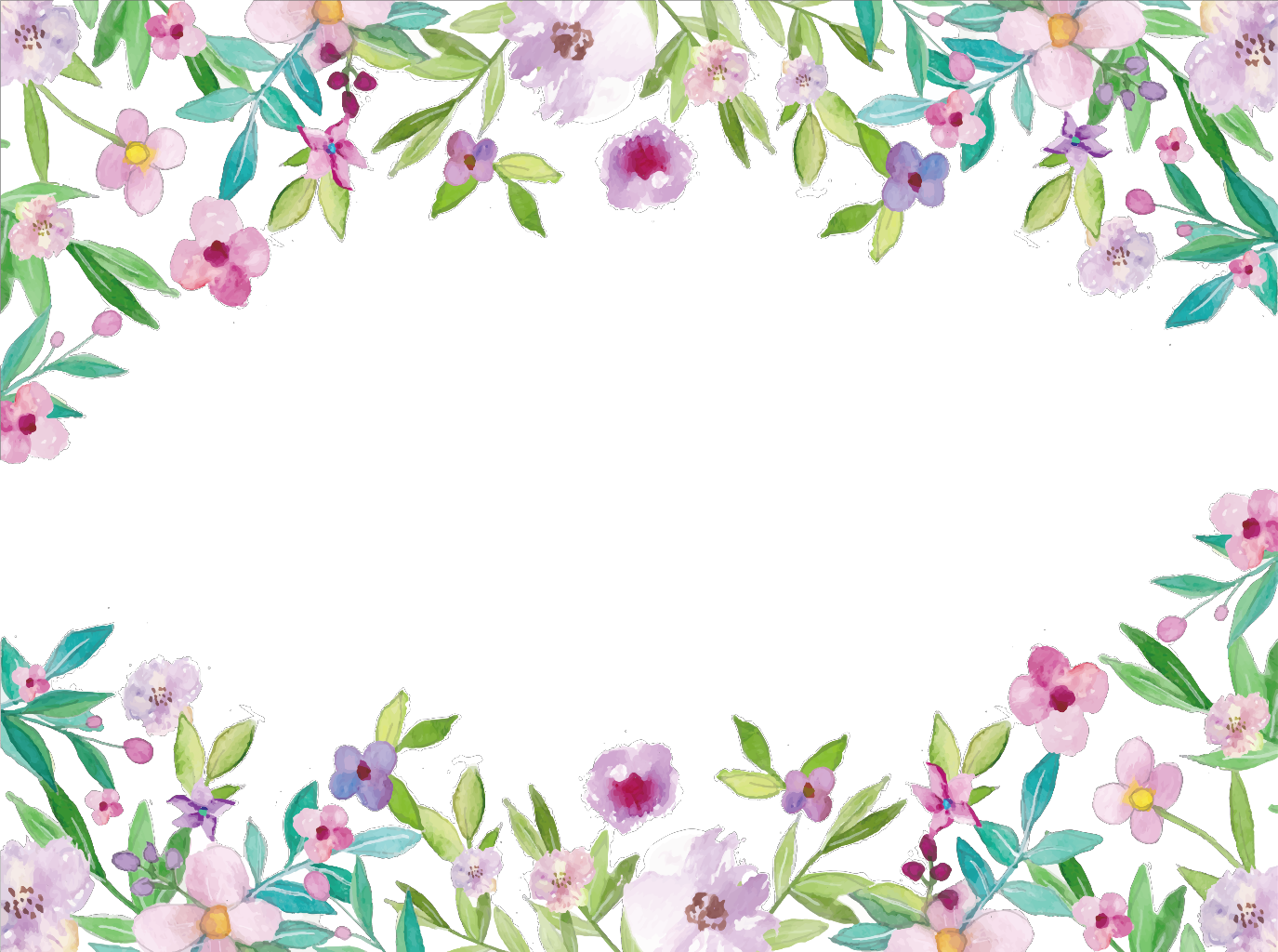 Watercolor frame png. Ftestickers flowers borders report