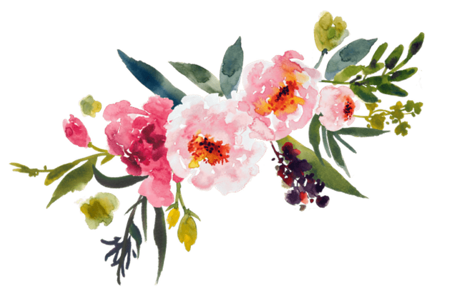 Watercolor bouquet stickpng download. Flowers transparent png vector free