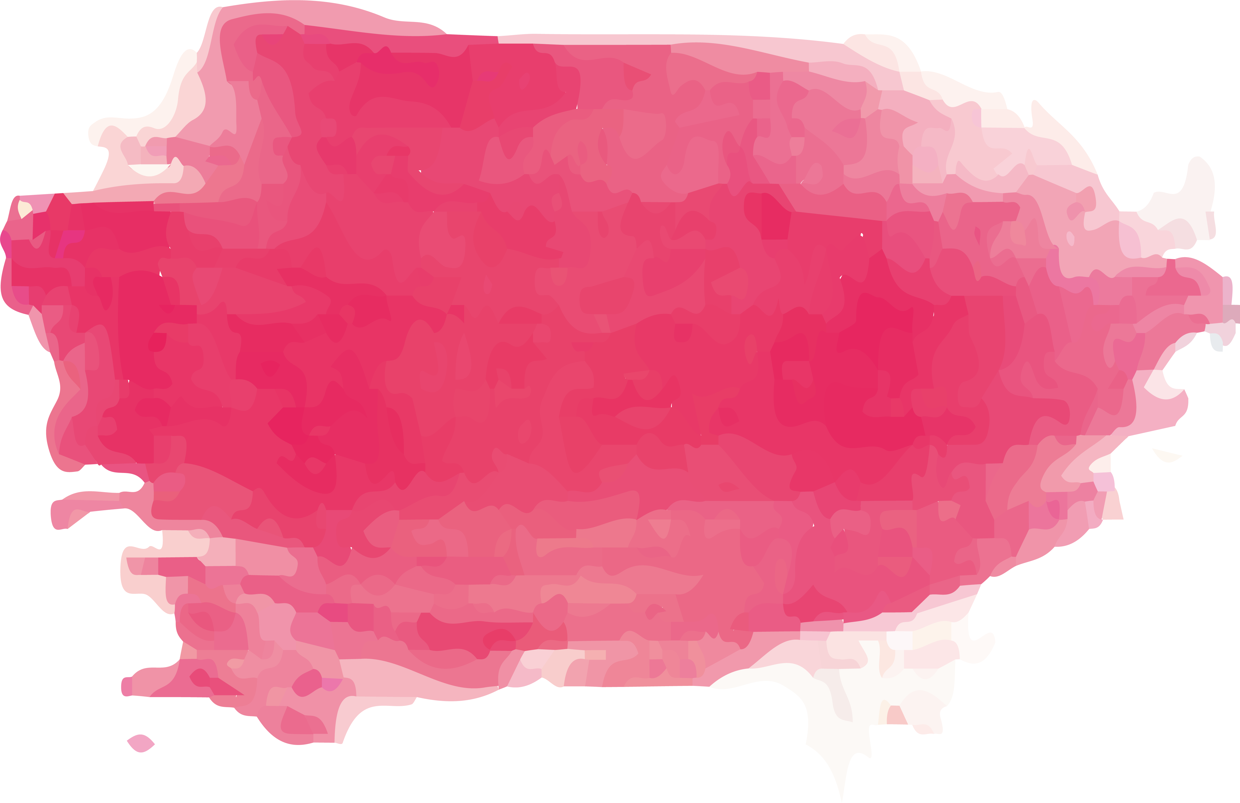 Pink paint stroke png. Watercolor painting brush transprent