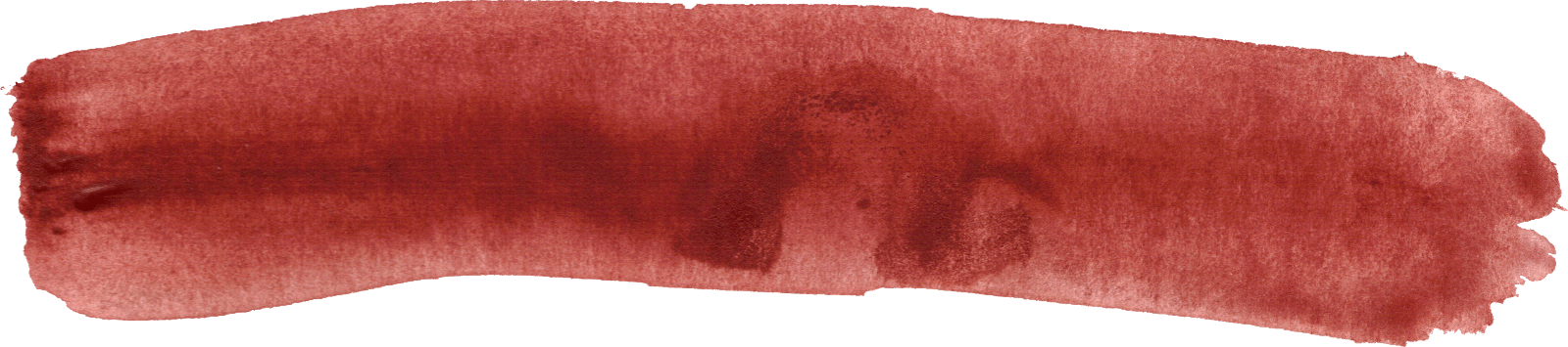 Watercolor brush stroke png. Red transparent stickpng download