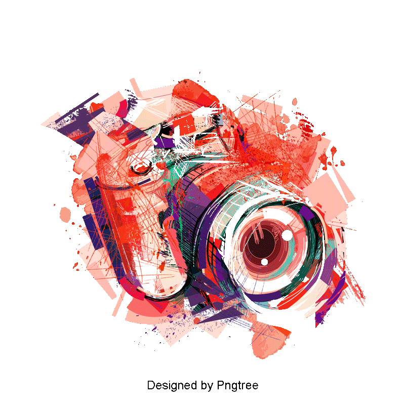 Vector effects design. Watercolor camera clipart effect