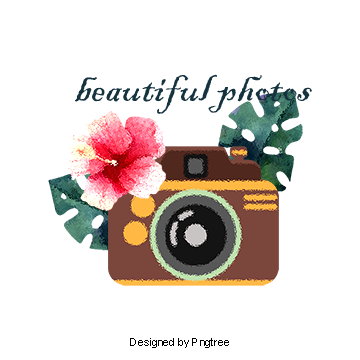 Camera clipart floral. Watercolor flowers vector clipartwatercolorcameraflowerscamera