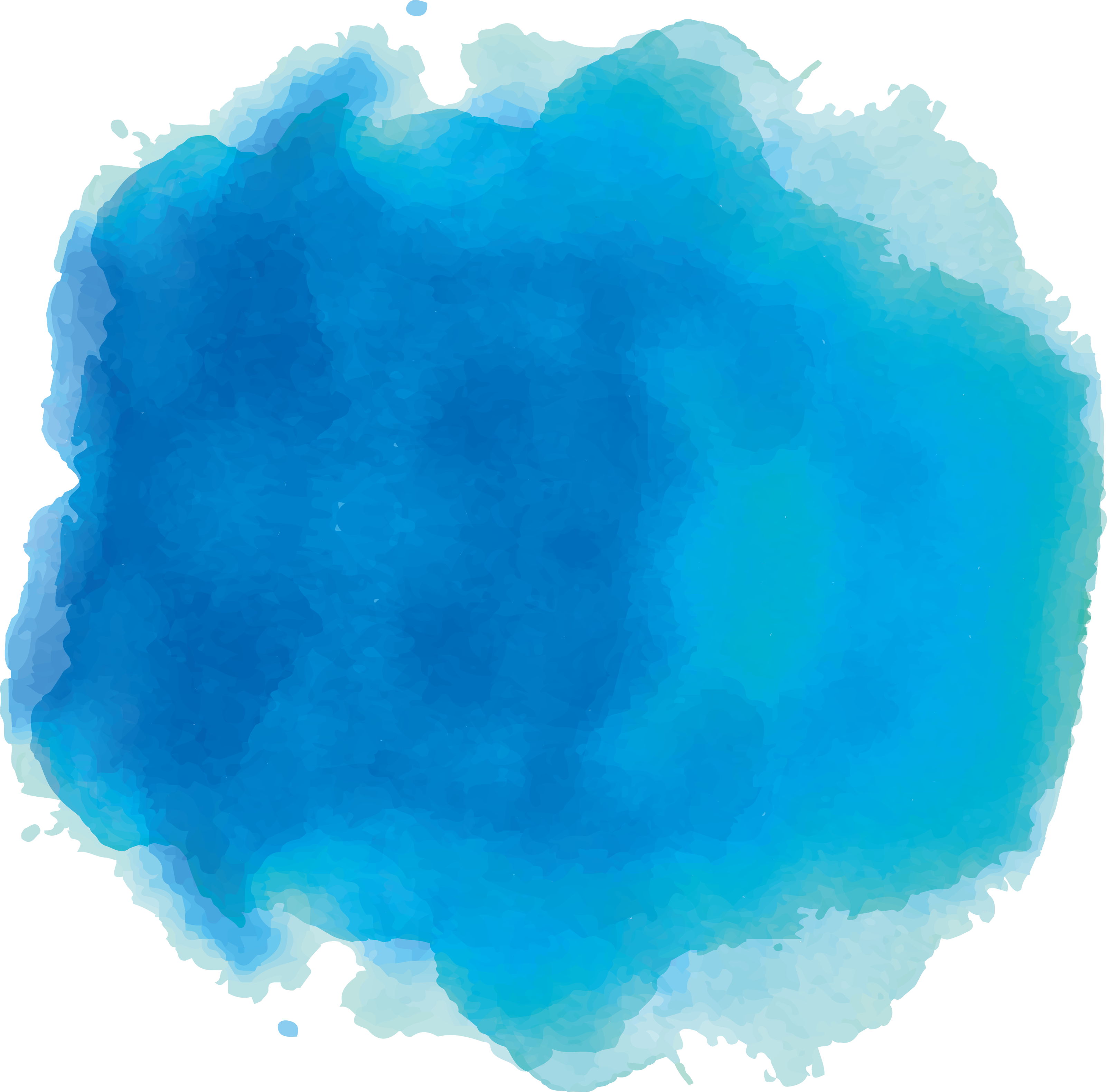 Watercolor dots png. Blue ink painting sky