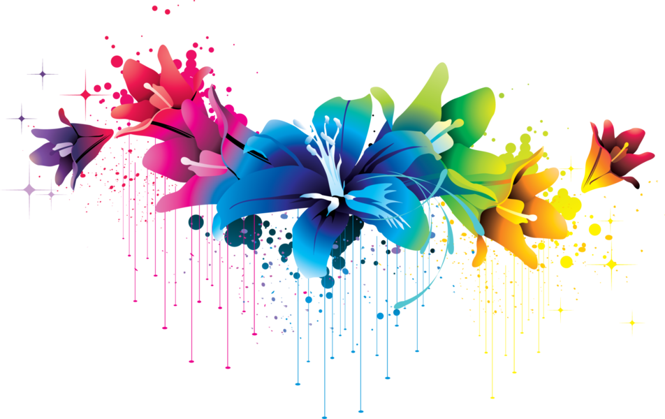 Watercolor drip png. Flower psd official psds
