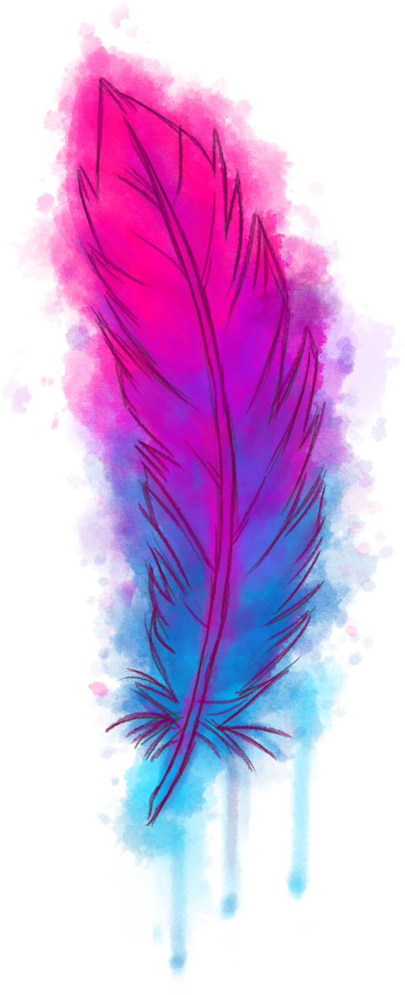 Watercolor feather png. Watercolour by bitchthepot on