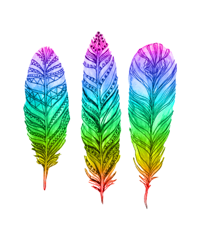 Transparent feathers bohemian. Tumblr colorful neon dream