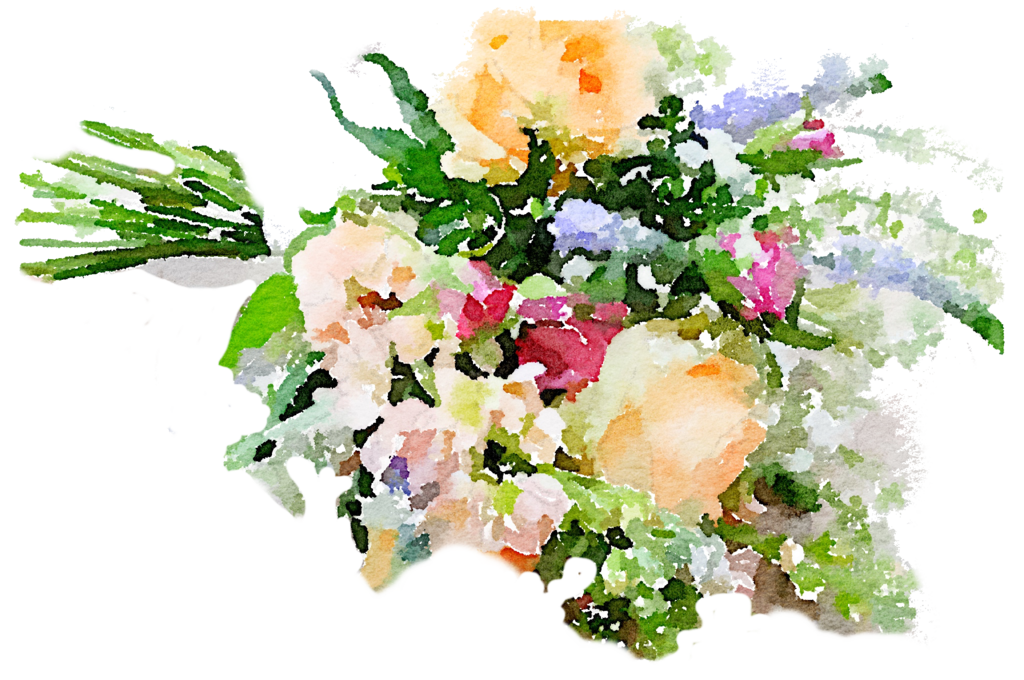 Watercolor floral bouquet png. Flower free freeuse colorful