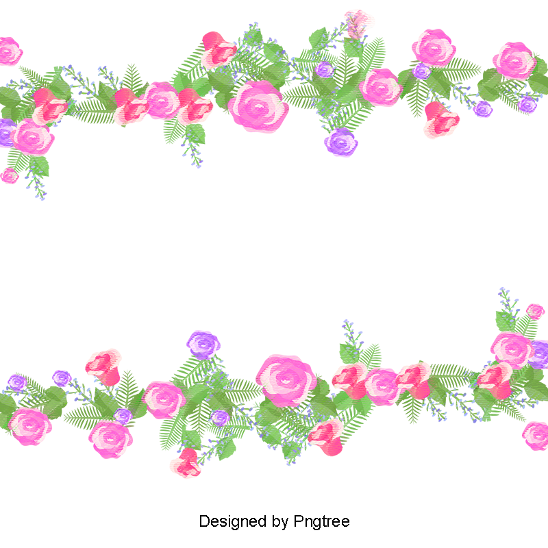 Watercolor flowers small fresh. Flores vector png svg royalty free