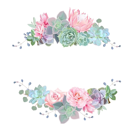 Watercolor borders png. Flower callygraph arts and
