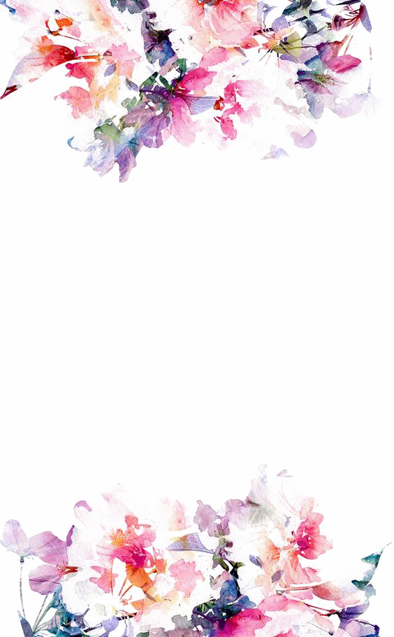 Watercolor flower border png. Iphone s paper wallpaper
