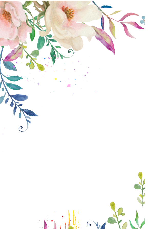 Watercolor flower border png. White peoplepng com