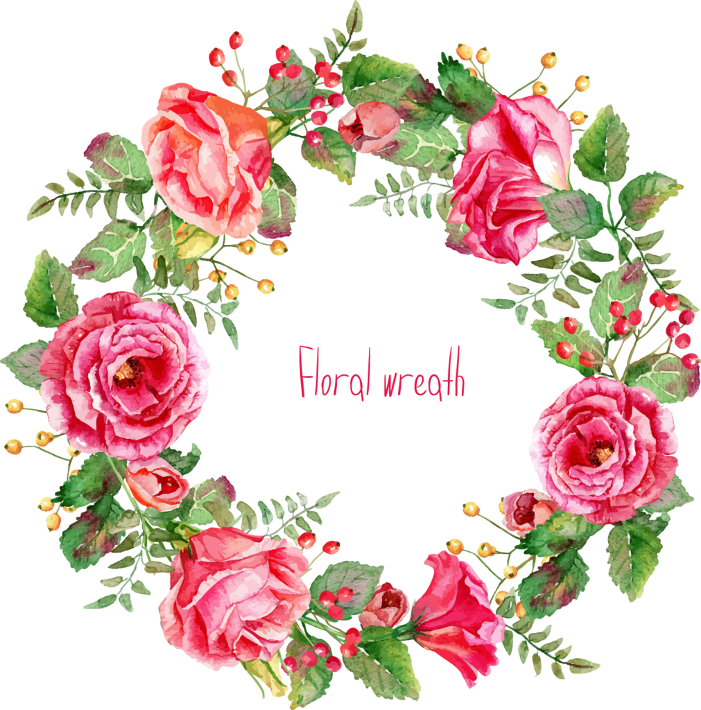 Free floral peoplepng com. Watercolor flower wreath png clip freeuse library