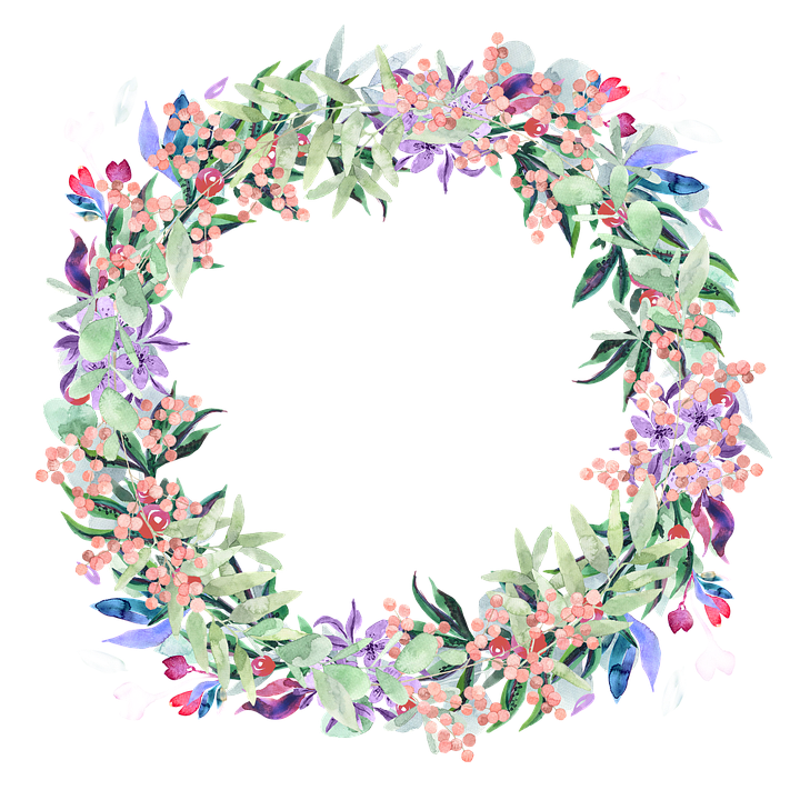 Free photo flowers spring. Watercolor flower wreath png png freeuse