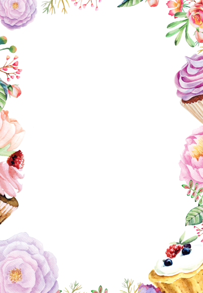 Watercolor flowers border png. Download flower transparent background