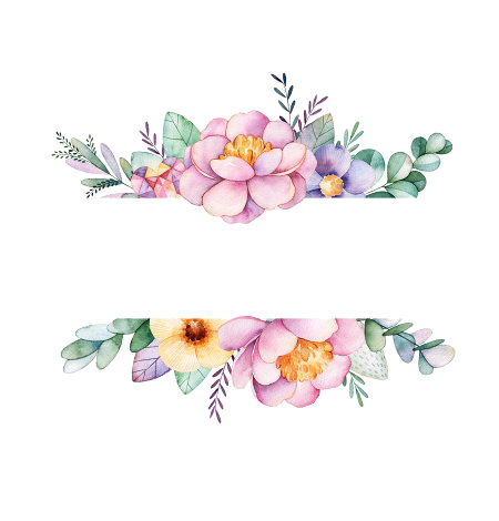Watercolor flowers border png. Pin by weam suliman