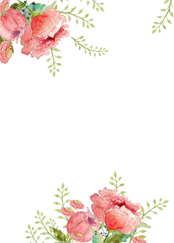 Watercolor flowers border png. Flower peoplepng com