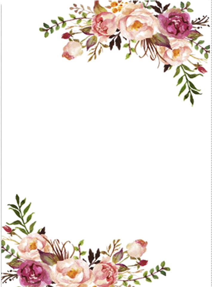 Watercolor Flowers Border Png Picture 457698 Laces Clipart Wedding