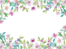 Watercolor flowers border png. Vector clipart psd peoplepng