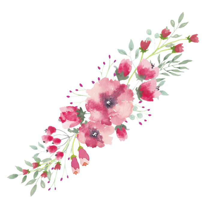 Watercolor Flowers Borders Elements Ornaments Free Transparent Png