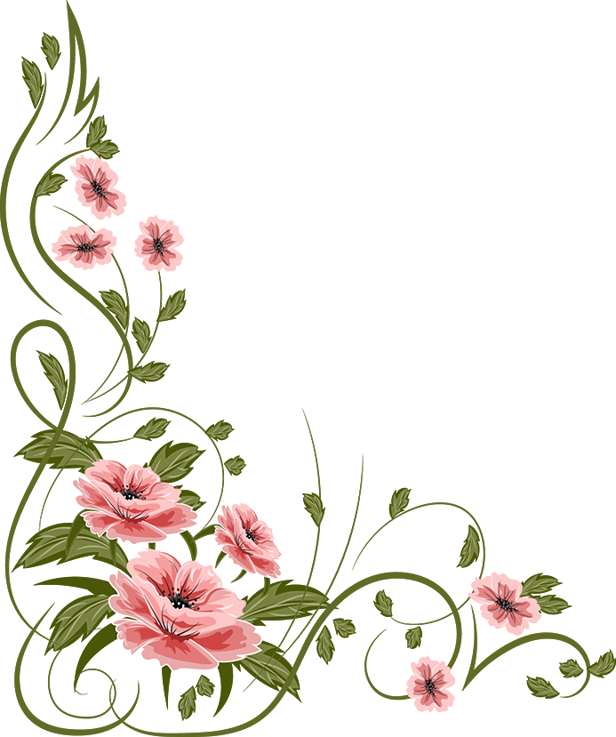 Flowers painting illoustrator png. Marcos vector floral image download