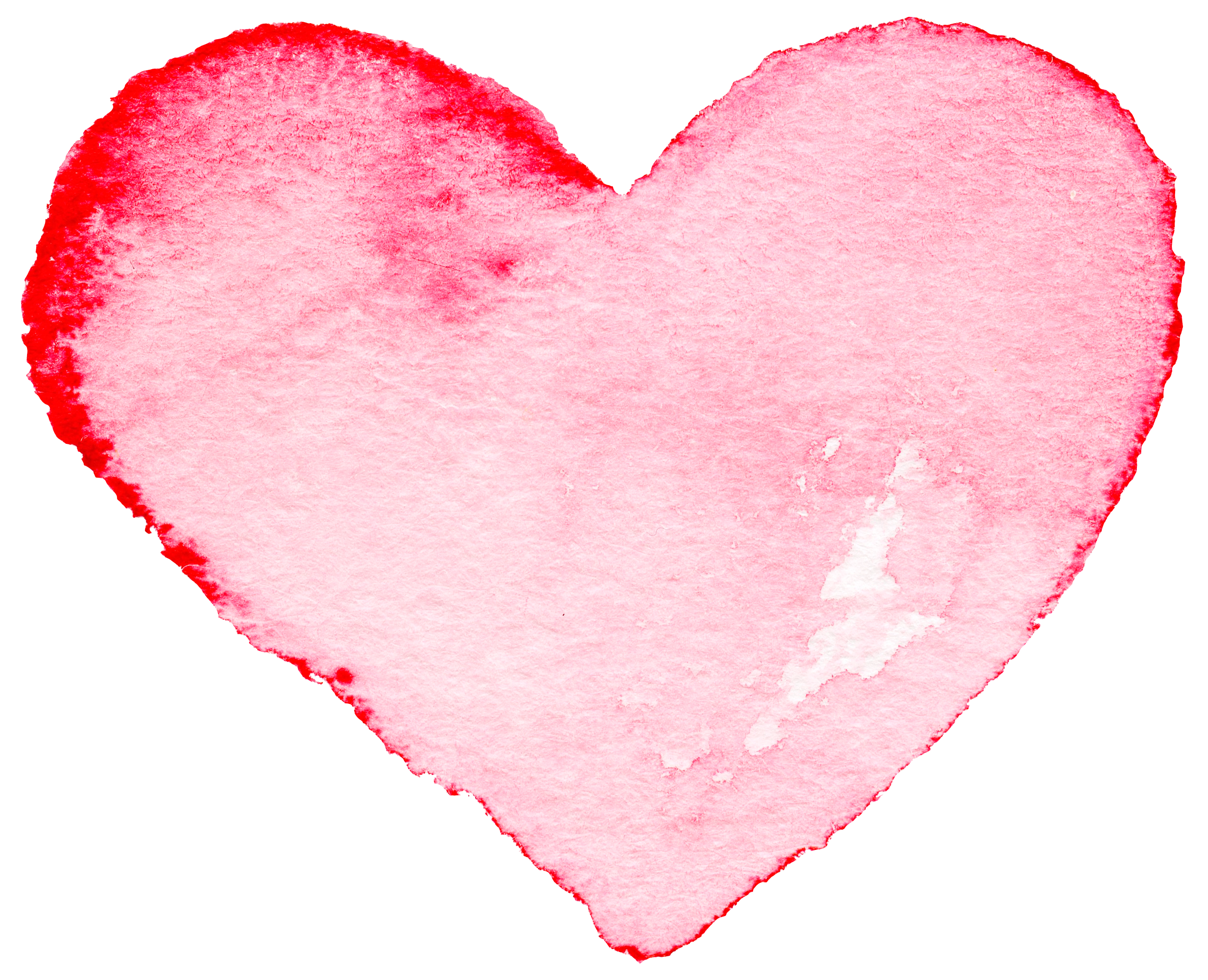 Watercolor heart png. Painting transprent free download